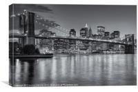 Brooklyn Bridge Twilight II, Canvas Print