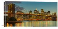 Brooklyn Bridge Twilight Panoramic, Canvas Print