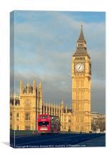 Big Ben and Westminster Bridge I, Canvas Print