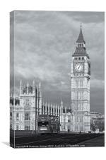Big Ben and Westminster Bridge II, Canvas Print