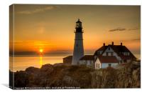 Portland Head Light Sunrise II, Canvas Print