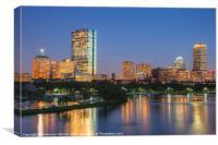 Boston Night Skyline II, Canvas Print