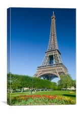 Eiffel Tower in Spring I, Canvas Print