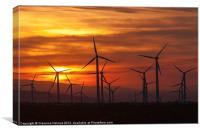 Wind Turbines Sunrise, Canvas Print