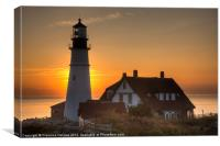 Portland Head Light Sunrise III, Canvas Print