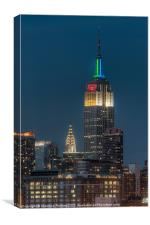Empire State and Chrysler Buildings III, Canvas Print