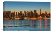 New York Morning Twilight III, Canvas Print