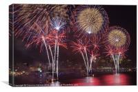Hudson River Fireworks VIII, Canvas Print