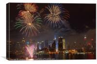 Hudson River Fireworks IV, Canvas Print