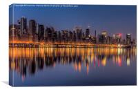 New York City West Side Morning Twilight I, Canvas Print