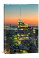 Top of the Rock Twilight III, Canvas Print