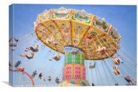 Ohio State Fair Wave Swinger III, Canvas Print