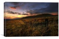 Rivington pike sunset, Canvas Print