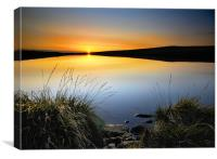 Sunset at the tarn, Canvas Print