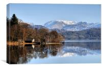 coniston boat house, Canvas Print