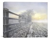 Winters nip, Canvas Print
