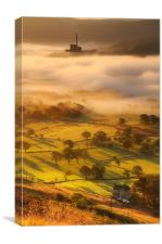 Golden mists over castleton 2, Canvas Print