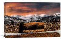 Fells of the lakes, Canvas Print