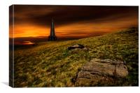 Stoodley pike sunset, Canvas Print