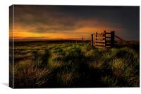 Moorland mood,, Canvas Print
