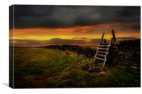 The stile, Canvas Print