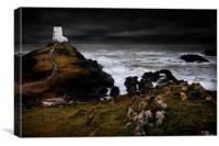 Llanddwyn lighthouse, Canvas Print