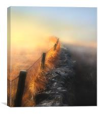 Moorland mists, Canvas Print