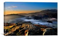Mists over Grassmere, Canvas Print