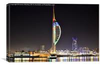 spinaker by night, Canvas Print