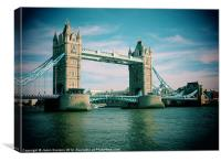 Tower Bridge - A Postcard, Canvas Print