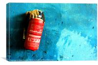 In Case Of Emergency Remove Glove, Canvas Print