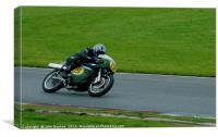 Racing bikes at Snetterton racetrack , Canvas Print