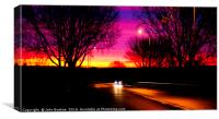 Sunrise on the way to work one morning, Canvas Print