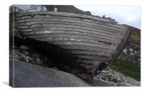 Abandoned Boat, Rathlin Island, Canvas Print