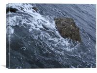 Swirling Water Around Rocks, Canvas Print