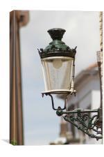 Street Lamp in Brugge, Canvas Print