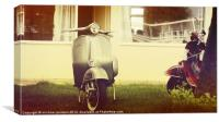 Vespa GS, Canvas Print