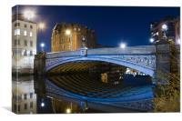 Leeds Blue Bridge, Canvas Print