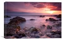 Alum Bay Sunset, Canvas Print