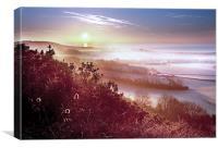 Misty Downs Sunrise, Canvas Print