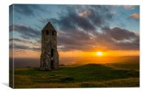 St Catherines Down Isle of Wight, Canvas Print