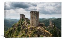 Castles at Lastours, Canvas Print