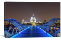 Millenium bridge by Night, Canvas Print