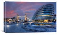 City Hall & Tower Bridge, Canvas Print