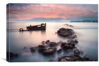 Wreck Sunset, Canvas Print