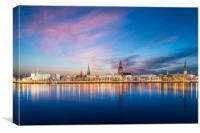 Riga Skyline, Canvas Print