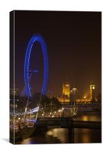 London at Night, Canvas Print