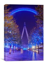 London wheel at night, Canvas Print