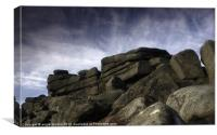 Stanage Edge Rocks, Canvas Print