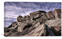 Stanage Edge View, Canvas Print